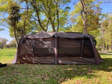 クイックキャンプ2ルームテントアルマジロ試し張りレビュー