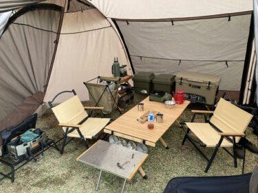 大雨強風に遭遇!クイックキャンプアルマジロ使用感を徹底レビュー